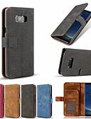 Недорогие Чехлы для телефонов-Кейс для Назначение SSamsung Galaxy Note 9 / Note 8 Кошелек / Бумажник для карт / со стендом Чехол Однотонный Твердый Кожа PU