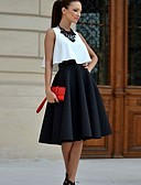 povoljno Kompletići za djevojčice-Žene Potkošulja - Color block, Čipka Suknja / Proljeće / Ljeto / Jesen