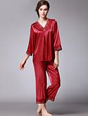 preiswerte Pyjamas-Damen Tiefes V Anzüge Pyjamas Solide
