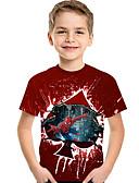 povoljno Majice za dječake-Djeca Dijete koje je tek prohodalo Dječaci Aktivan Osnovni Print Print Kratkih rukava Majica s kratkim rukavima Lila-roza