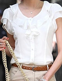 voordelige Damesshirts-Dames Grote maten - Blouse Effen Wit