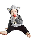 halpa Vauvojen vaatesetit Pojat-Vauva Poikien Vapaa-aika / Aktiivinen Painettu Painettu Pitkähihainen Normaali Puuvilla Vaatesetti Harmaa / Taapero