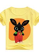 povoljno Majice za dječake-Djeca Dječaci Osnovni Print Print Kratkih rukava Pamuk Majica s kratkim rukavima Blushing Pink