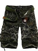 abordables Pantalones y Shorts de Hombre-Hombre Básico Shorts Pantalones - Estampado / camuflaje Algodón Azul Piscina Gris Oscuro Verde Ejército 34 36 38