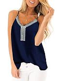 billige Skjorter til damer-V-hals Singleter Dame - Ensfarget Lilla