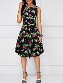 hesapli Vintage Kraliçesi-Kadın's sofistike Zarif Kombinezon Kılıf Elbise - Geometrik Midi