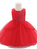 זול סטים של ביגוד לתינוקות-שמלה כותנה עד הברך ללא שרוולים פפיון / רקום אחיד / פרחוני פעיל / בסיסי בנות תִינוֹק
