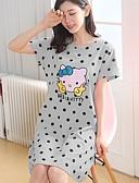 Χαμηλού Κόστους T-shirt-Στρογγυλή Λαιμόκοψη Σετ Εσώρουχα Πυτζάμες Γυναικεία Μονόχρωμο