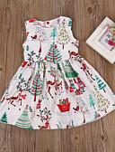 זול אוברולים טריים לתינוקות-שמלה כותנה ללא שרוולים דפוס פרחוני פעיל / בסיסי בנות תִינוֹק / פעוטות