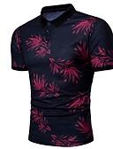 זול חולצות פולו לגברים-גראפי צווארון חולצה Polo - בגדי ריקוד גברים פול / שרוולים קצרים