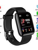 billige Rustfrit stål-Herre Digital Watch Digital Silikone Sort / Blåt / Poolblå 50 m Vandafvisende Bluetooth Smart Digital Udendørs Mode - Sort Rød Blå Et år Batteri Levetid / LCD / Stopur