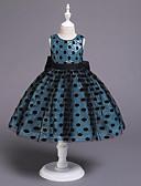 זול שמלות לתינוקות-שמלה כותנה עד הברך ללא שרוולים גב חשוף / פאייטים / פפיון מנוקד וינטאג' / מתוחכם בנות תִינוֹק / פעוטות