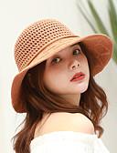 preiswerte Damenhüte-Damen Aktiv Grundlegend nette Art,Baumwolle Polyester Sonnenhut Solide Frühling Sommer Marineblau Leicht Braun Hellgrau