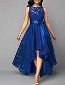 abordables Vestidos de Novia-Mujer Sofisticado Elegante Delgado Corte Swing Vestido - Encaje, Un Color Mini