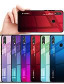 זול מגנים לטלפון-מגן עבור Huawei Huawei Honor 8X עמיד בזעזועים / עמיד לאבק כיסוי אחורי צבע הדרגתי קשיח TPU / זכוכית משוריינת