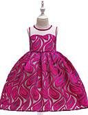 זול שמלות לבנות-שמלה עד הברך ללא שרוולים תחרה / רקום אחיד פעיל / סגנון רחוב בנות ילדים