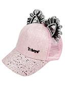 זול שמלות לבנות-מידה אחת לבן / שחור / ורוד מסמיק כובעים ומצחיות כותנה תחרה / פאייטים אחיד פעיל / בסיסי / מתוק בנות ילדים / פעוטות