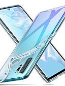 זול מגנים לטלפון-מגן עבור Huawei Huawei P20 / Huawei P20 Pro / Huawei P20 lite עמיד בזעזועים / אולטרה דק / שקוף כיסוי אחורי אחיד רך TPU / P10 Plus / P10 Lite / P10