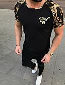 povoljno Muške majice i potkošulje-Majica s rukavima Muškarci kamuflaža Okrugli izrez Slim Obala