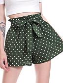 cheap Shorts-Women's Sporty / Active Chinos / Shorts Pants - Polka Dot Polka Dots Black Navy Blue Army Green M L XL