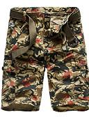 abordables Camisas de Hombre-Hombre Básico Delgado Shorts Pantalones - Multicolor Algodón Gris Verde Ejército Caqui 34 36 38