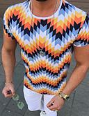 povoljno Muške majice i potkošulje-Veličina EU / SAD Majica s rukavima Muškarci 3D Okrugli izrez Duga