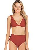 levne Bikini a plavky-Dámské Fialová Tankini Plavky - Jednobarevné M L XL Fialová