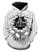 cheap Men's Tees & Tank Tops-Men's Casual / Street chic Hoodie - Geometric / 3D / Letter Gray XXXL