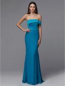 povoljno Maturalne haljine-Kroj uz tijelo Bez naramenica Do poda Saten Prom Haljina s S volanima po TS Couture®