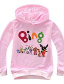 levne Dívčí mikiny-Děti / Toddler Dívčí Aktivní / Základní Tisk Tisk Dlouhý rukáv Bavlna / Spandex Mikinky Světlá růžová