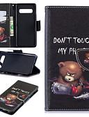 Недорогие Чехлы для телефонов-Кейс для Назначение SSamsung Galaxy S9 / S9 Plus / S8 Plus Бумажник для карт / Защита от пыли / со стендом Чехол Пейзаж / Животное / Мультипликация Твердый Кожа PU / Настоящая кожа