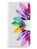 Недорогие Чехлы для телефонов-Кейс для Назначение SSamsung Galaxy S9 / S9 Plus / S8 Plus Кошелек / Бумажник для карт / со стендом Чехол Цветы Твердый Кожа PU