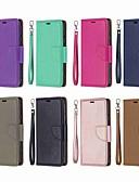 Недорогие Чехлы для телефонов-Кейс для Назначение Nokia Nokia 5.1 / Nokia 4.2 / Nokia 3.1 Кошелек / Бумажник для карт / со стендом Чехол Однотонный Твердый Кожа PU