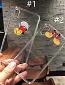 זול מגנים לאייפון-מגן עבור Apple iPhone XS / iPhone XR / iPhone XS Max שקוף / תבנית כיסוי אחורי שקוף / אנימציה רך TPU