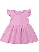 זול חלקים תחתונים לתינוקות-שמלה כותנה ללא שרוולים אחיד פעיל / בסיסי בנות תִינוֹק / פעוטות