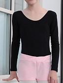 זול בגדי ים לבנים-בגדי ריקוד לילדים / בלט מכנסיים קצרים בנות הדרכה כותנה דוגמא \ הדפס / מפרק מפוצל מכנסיים קצרים