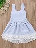 זול סטים של ביגוד לתינוקות-שמלה ללא שרוולים פסים בנות תִינוֹק