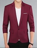 billiga Herrblazers och kostymer-Herr Blazer, Enfärgad Tröjkrage Bomull Vin / Khaki grön / Marinblå US38 / US40 / US42