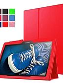 זול מגנים לטלפון-מגן עבור Lenovo Lenovo Tab 3 10 Plus עמיד בזעזועים / עם מעמד / אולטרה דק כיסוי מלא אחיד קשיח עור PU
