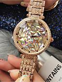 זול שעונים-בגדי ריקוד נשים שעון מכני קווארץ מתכת אל חלד עמיד במים אנלוגי אופנתי