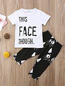 זול לבנים סטים של ביגוד לתינוקות-סט של בגדים שרוולים קצרים גיאומטרי / דפוס בנים תִינוֹק
