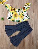 זול סטים של ביגוד לבנות-סט של בגדים כותנה ללא שרוולים פרחוני בוהו בנות פעוטות
