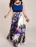 billige Brudepigekjoler-Dame I-byen-tøj Strand Skede Kjole Maxi Med stropper