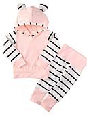 זול אוברולים טריים לתינוקות-סט של בגדים שרוול ארוך פסים בנות תִינוֹק