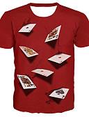 povoljno Muške majice i potkošulje-Majica s rukavima Muškarci - Osnovni / pretjeran Ulica / Ležerno / za svaki dan 3D / Grafika / Slovo Print Red XXXXL