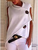 billige Bluse-Løstsiddende Dame - Ensfarvet Bomuld, Patchwork Basale T-shirt Gul