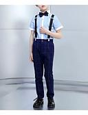 זול חליפות-נייבי כהה פוליאסטר חליפה לנושא הטבעת  - 1set כולל עליון / Pants / עניבת פרפר