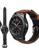 זול להקות Smartwatch-עור אמיתי רטרו wristband wristband רצועת רצועת היד צפה עבור הלהקה עבור סמסונג גלקסיה לצפות 46mm / gear s3 קלאסי / הגבול שעון חכם