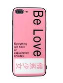 זול מגנים לאייפון-מגן עבור Apple iPhone XS / iPhone XR / iPhone XS Max מראה / תבנית כיסוי אחורי מילה / ביטוי קשיח זכוכית משוריינת