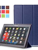 Недорогие Чехлы для телефонов-Кейс для Назначение Lenovo Lenovo Tab-X103F Защита от удара / со стендом / Ультратонкий Чехол Однотонный Твердый Кожа PU